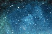 Abstract Galaxy Painting. Watercolor Cosmic Texture With Stars. Night Sky. Milky Way Deep Interstell poster