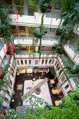 stock photo of amman  - building interior in hotel in Amman Jordan - JPG