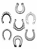 Set of horseshoe icons