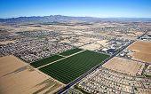 picture of oblique  - Oblique view of North Estrella Parkway and West Van Buren Street in Goodyear Arizona - JPG