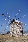 picture of gumbet  - Aegean style old mills in Bodrum Turkey - JPG