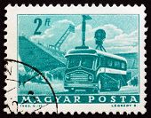 Postage Stamp Hungary 1963 Mobile Radio Transmitter