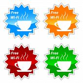 Free Wi-fi Vector Labels