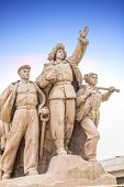 stock photo of zedong  - Monument in front of Mao - JPG