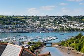 picture of dartmouth  - Boats and yachts in Dartmouth harbour Devon on the River Dart Kingswear side - JPG