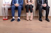 pic of recruitment  - Business people waiting for job interview - JPG