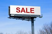 Sale on highway billboard