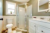 picture of windows doors  - Bright bathroom with window - JPG