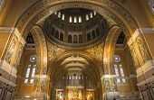 interiors and details of Sainte-Therese basilica, Lisieux, France