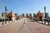 stock photo of qatar  - Bridge in the marina Porto Arabia - JPG