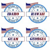 foto of guam  - Set of stamps made in idaho - JPG