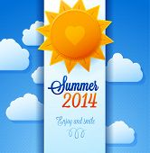 pic of hot-weather  - Marine background for summer poster - JPG