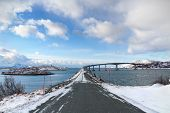 Cantilever Bridge In Arctic Norway