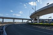 picture of pov  - Overpass near the airport Vnukovo in Moscow Russia