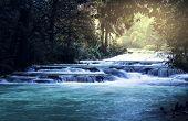 stock photo of jungle  - waterfall in jungle - JPG