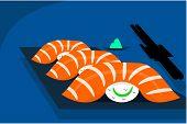 Постер, плакат: Salmon Sushi