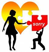 stock photo of apologize  - Man apologizes - JPG