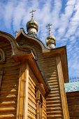 pic of siberia  - Wooden chapel part of Achairsky Holy Cross Monastery - JPG