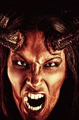 picture of hades  - Portrait of a devil with horns - JPG