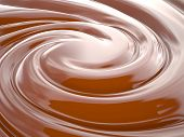 stock photo of dimentional  - Chocolate cream swirl background 3D rendering image - JPG