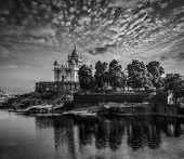 foto of mausoleum  - Jaswanth Thada mausoleum on sunset - JPG