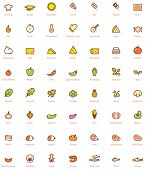 stock photo of glyphs  - Set of the simple pizza related glyphs - JPG