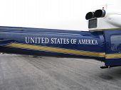 USA On Plane poster