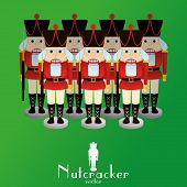 pic of nutcracker  - a set of nutcracker soldiers on a background - JPG