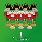 foto of nutcracker  - a set of nutcracker soldiers on a background - JPG