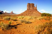 stock photo of unique landscape  - The unique landscape of Monument Valley Utah USA - JPG