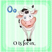 pic of oxen  - Illustration of a letter o is for ox - JPG
