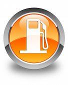 foto of dispenser  - Fuel dispenser icon glossy orange round button - JPG