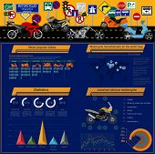 image of dragster  - Set of motorcycles elements - JPG