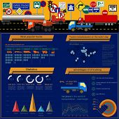 pic of tank truck  - Cargo transportation infographics trucks lorry - JPG