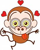 pic of long tongue  - Crazy monkey with big ears - JPG