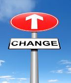 foto of modification  - Illustration depicting a sign with a change concept - JPG