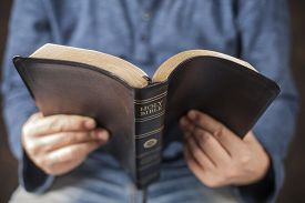 pic of prophets  - Man reading from the holy bible - JPG