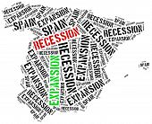 stock photo of stagnation  - Expansion and recession in Spain - JPG