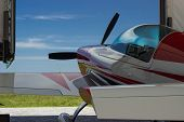 pic of aerobatics  - Sport aircraft at the airport ready to fly - JPG