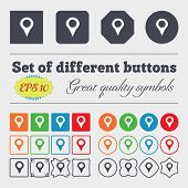 image of gps  - Map pointer GPS location icon sign Big set of colorful diverse high - JPG