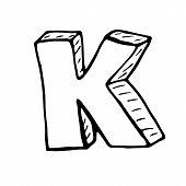 stock photo of letter k  - English alphabet  - JPG
