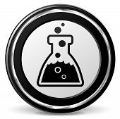 stock photo of chemistry  - illustration of chemistry black and silver icon - JPG
