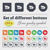stock photo of high-quality  - video camera icon sign Big set of colorful diverse high - JPG