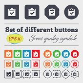 foto of high-quality  - Check mark tik icon sign Big set of colorful diverse high - JPG