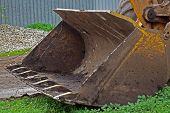picture of ladle  - ladle of an excavator at a construction site - JPG