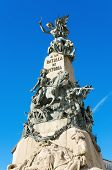 stock photo of battle  - Detail of the Vitoria Battle monument Vitoria Spain - JPG