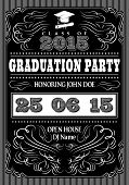stock photo of bachelor party  - vector template for the posters to graduate party - JPG