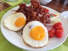 foto of continental food  - Big continental breakfast  - JPG