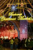 Постер, плакат: Bucharest Romania December 25: Bucharest Christmas Market On December 25 2015 In Bucharest Vert