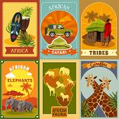 Постер, плакат: Safari Posters Set